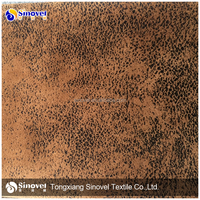 Polyester Embossed Suede Sofa Fabric /Foil suede/Bronzed suede
