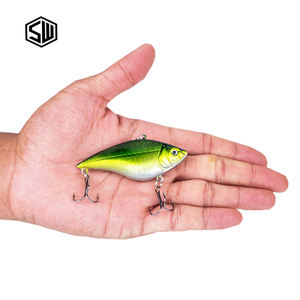 SW High Quality Fishing Lure Lifelike Scale ABS Hard Plastic Body Sinking vib Fishing Lure