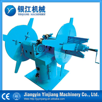 Dual-head Manual steel uncoiler for pipe making machine &tube mill
