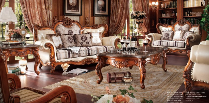 Newly classic wood frame leather sofa,artistic leather sofa ,livingroom furniture