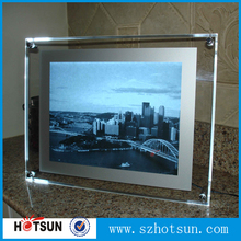 LED lighting perspex A3 Landscape picture frame for retail shop