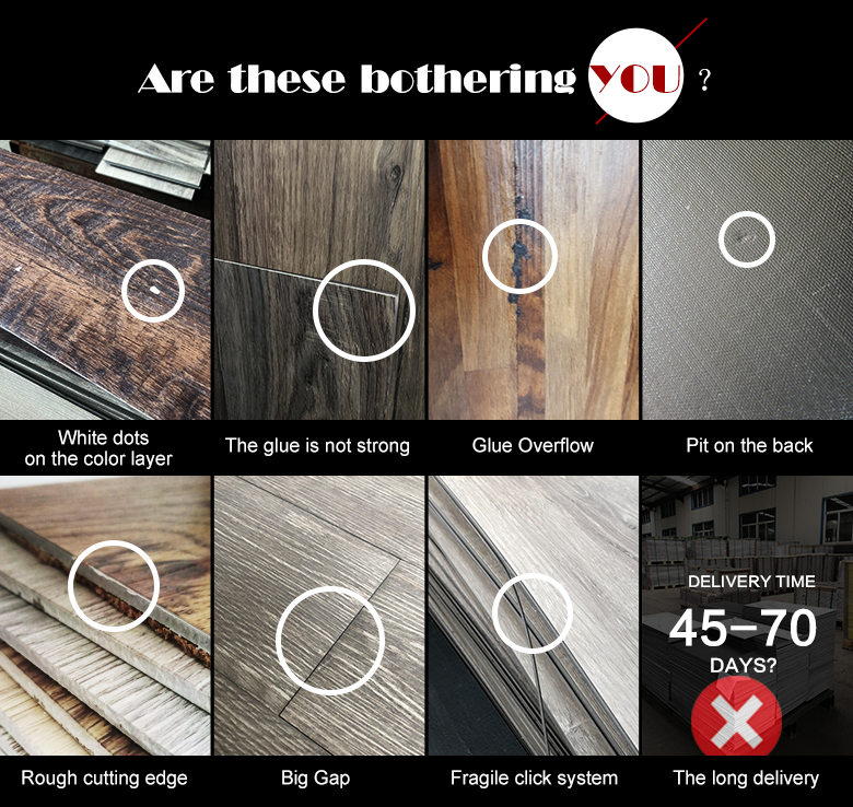 Wood Design Looking PVC Plank Flooring Self Adhesive Vinyl Tile
