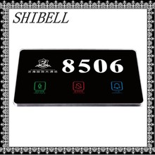 SHIBELL Wholesale Crystal Touch Panel Hotel Electronic Doorplate
