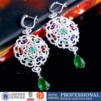 Beautiful sterling silver earring for lady, wholesale bridal jewelry