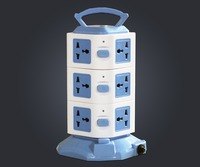 Vertical 12 Way+4 USB 4.5A Overload Protected Extension Lead Socket 12Gang- 1.8m