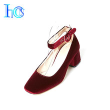Eco-friendly ankle strap high heel wedding women sandals shoes