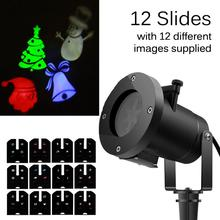waterproof IP65 led christmas light projector with 12 slides for christmas decorations