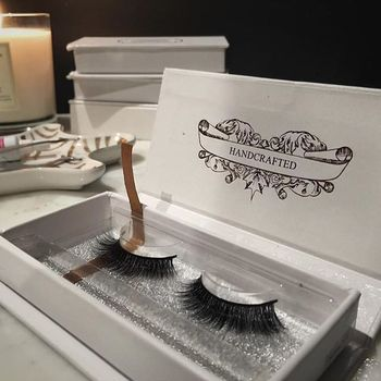 New design 100% handmade 3D real mink fur lashes with custom packaging