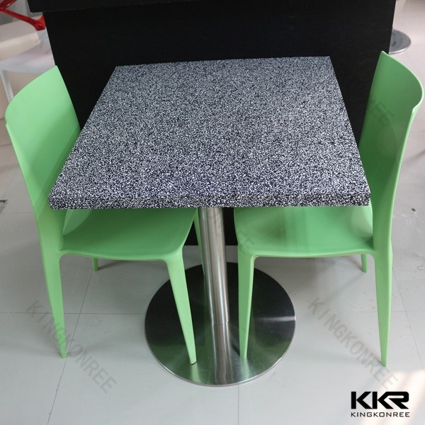 small new solid surface quartz stone cheap compact round banquet tables