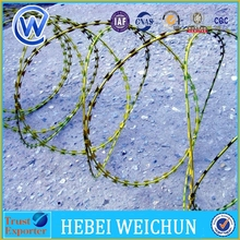 Cross Type clips razor wire