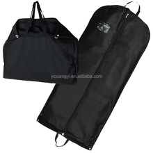 Folding PEVA polyester non-woven shopping bags suit cover non woven garment bags wholesale