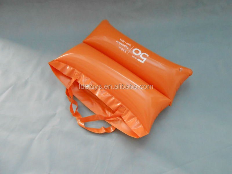 Cheap PVC waterproof inflatable beach bag pillow
