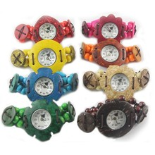 Wholesale Price Colorful Can Mixed Cheap Wooden Watch