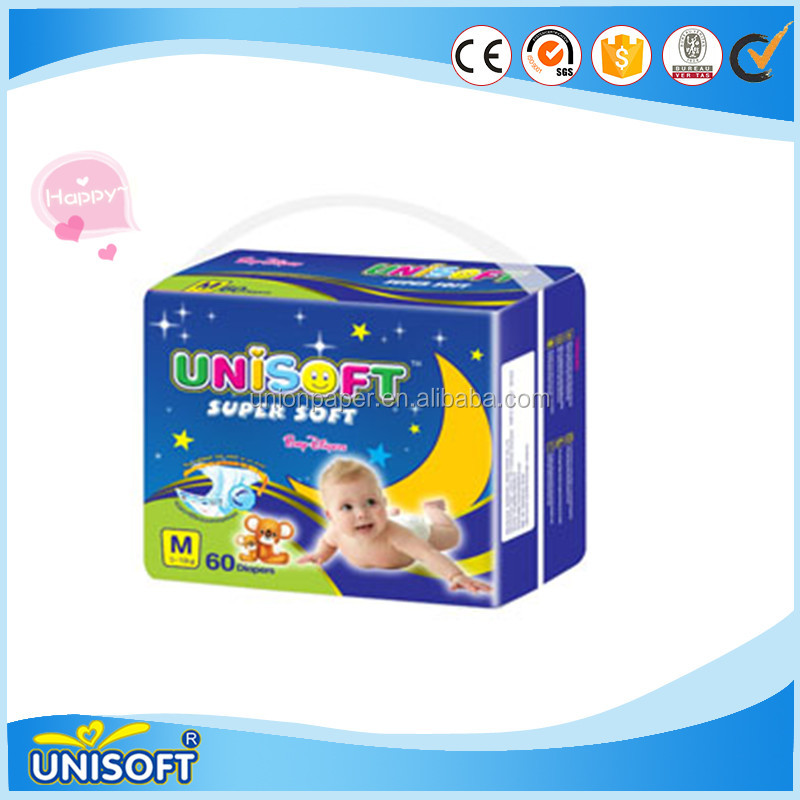 2016 new design premium cotton sleepy baby diapers products in Angola