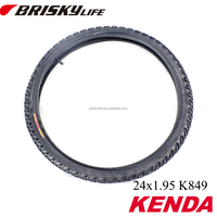 "Kenda solid rubber tire 24"" bike tire for mountain bike"