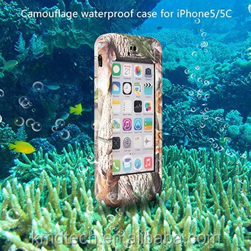 For iPhone 5C Waterproof Case, Hard Silicone Heavy Duty Shockproof Case Cell Phone Cover