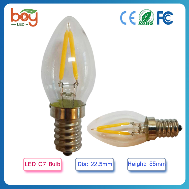 2016 New product replace halogen C7 candle LED C7 Candle Bulb