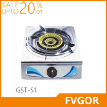 stainless steel electric ignitio gas cooker 1 burner table gas stove with brass distributor JZ-MT1N