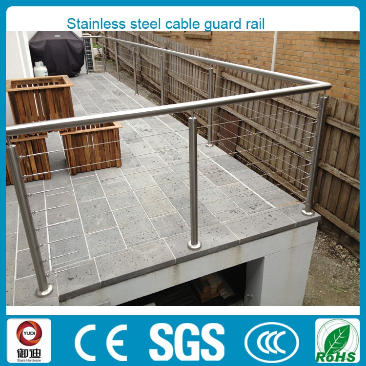 China made high quality outdoor stainless steel cable guard rail for residential projects
