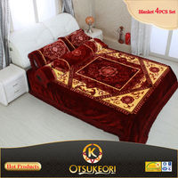 Textile products of blanket bed sheet set