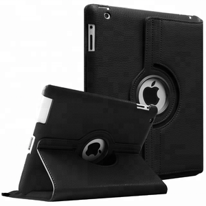 Flip leather for ipad 2 case for ipad 3 case for ipad 4 case 360 degree rotate