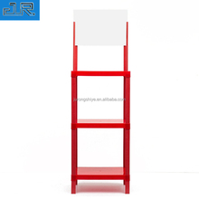 Factory direct customized retail store plastic display stand 3 tier standing display <strong>shelf</strong>