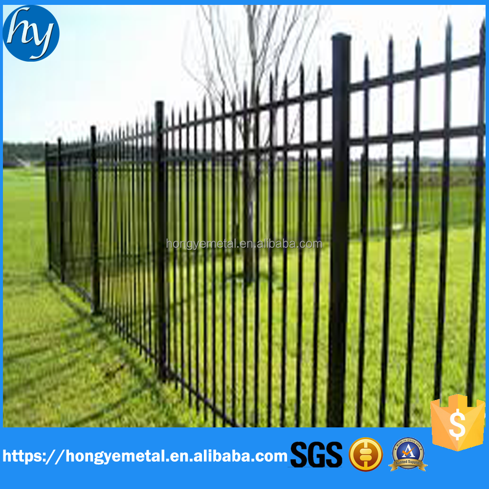 Palisade Picket Cheap Fencing for Home Garden/Residential/wholesale Cheap Picket Tubular Steel Fence