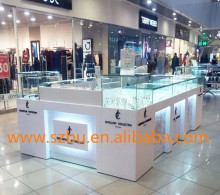 MDF bakery mall jewelry showcase kiosk with led lights
