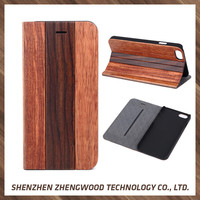 Factory Supplier Wooden Leather Flip Cover