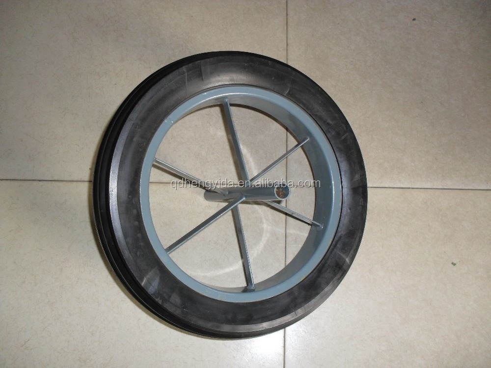 "Solid rubber wheel 15""x 3"""
