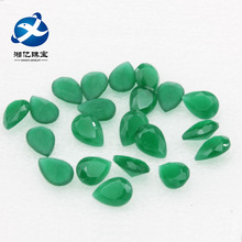 Teardrop Point-base Emerald Green Frosted Jade Glass