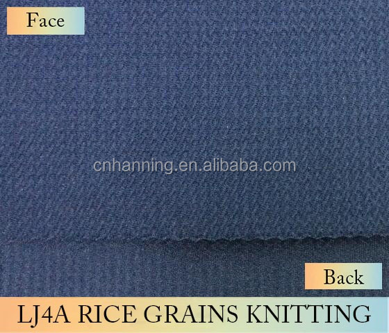 High quality new style 100% polyester liverpool/rice/karara/bullet knitting fabric