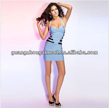 Manufacture direct hot sell short slim fashion wholesale bandage dress 2013