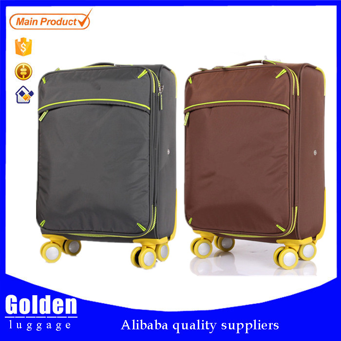 luggage push button handle wholesale silent trolley travel luggage