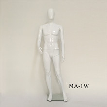 Pujiang wholesale torso glossy male mannequin plastic material bright white 185cm