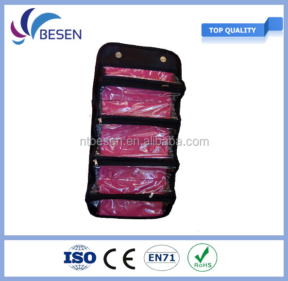 2016 roll up cosmetic bag,jewelry bag,suitable for making up or receiving