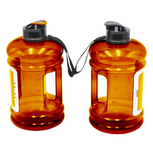 Amber Colour Plastic Container Water Drinking Bottle with Handle