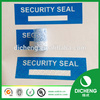 Anti fake security void sticker with serial number sticker labels