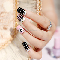 beauty sticker supply the gold cross with a skull 3D nail art jewelry metal nail sticker