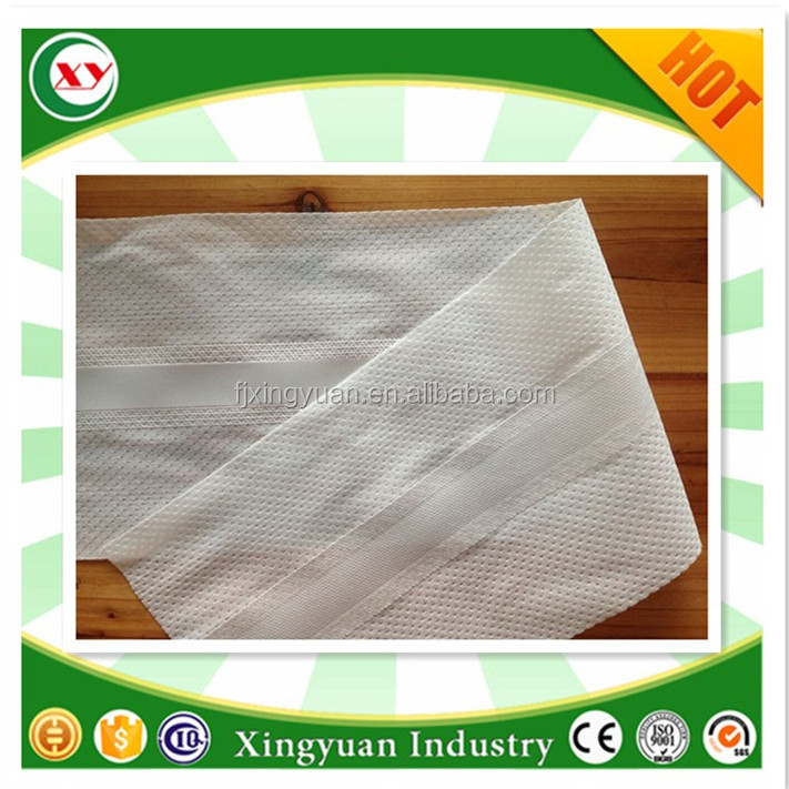 Hot sale elastic S cut magic side tape for newborn diaper hook and loop raw material