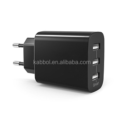 wholesale 3 port 4.8a 5v smart IC technology mini usb wall charger