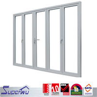 double glass aluminum garden accordion patio doors,aluminium folding doors