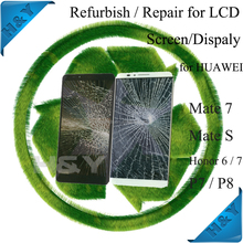Damaged lcd refresh,cracked glass refurbish,broken lcd screens repair service for samsung galaxy s6/s7 edge screens