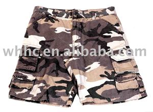 boy's camo short trousers casual leisure casual pants
