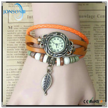 2015 Fashion style leather band vintage pandent vogue women wrist branded watch