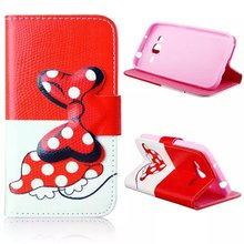 For Samsung G360 case, leather mobile phone stand wallet cases bowknot cell phone flip cover with card holder