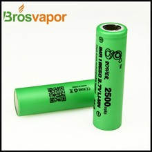 Various original wholesale aw imr battery 18650 2500mah 3.7v