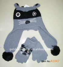 2014 pupular kids hat scarf gloves set