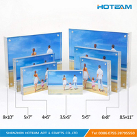 4x6 5x7 5x3.5 5x5 6x8 Freestanding Polished Clear Acrylic Magnetic Picture Photo Frame