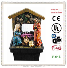 christmas gift religious decor Mary and baby Jesus nativity set water fountain
